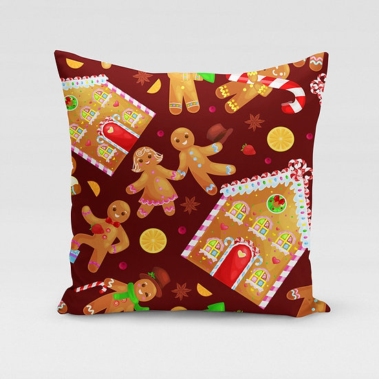 Gingerbread Pillow Cover