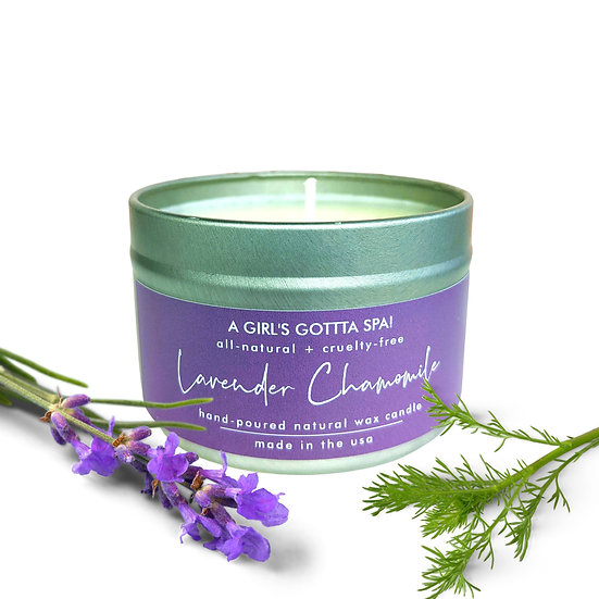 Lavender Chamomile Handpoured Natural Wax Candle
