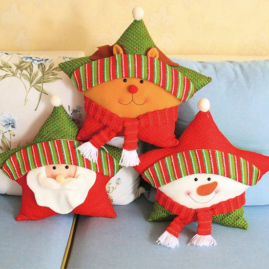 Pillow Christmas Five-Pointed Star Pillow Home
