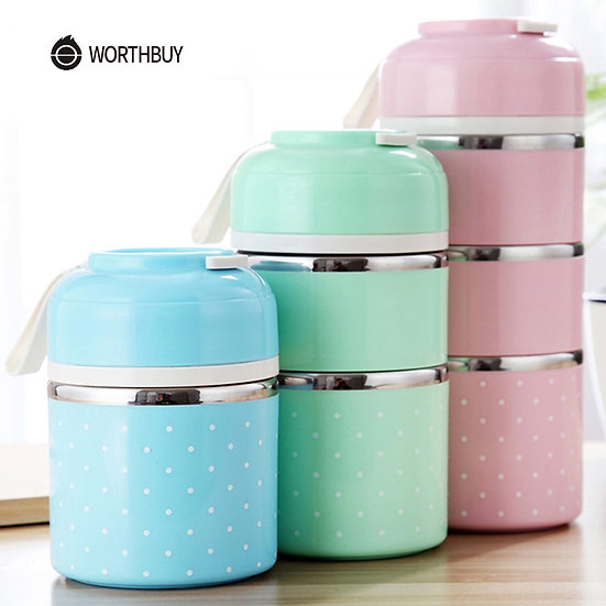 Lunch Box for Kids School Portable Food Container Stainless Steel Bento Box