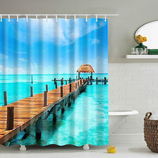 180*180 CM SPA Waterproof Shower Curtain Digital