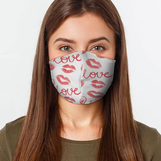 Love Kisses Face Cover