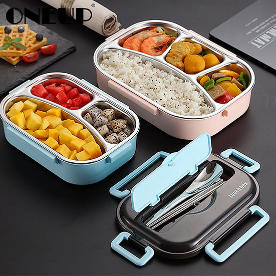 Stainless Steel Lunch Box Compartment Bento Box Leakproof