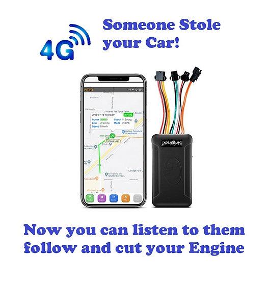 GPS Tracker fixed to vehicle;