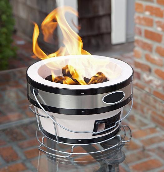 Portable Porcelain Cast Iron BBQ Barbeque