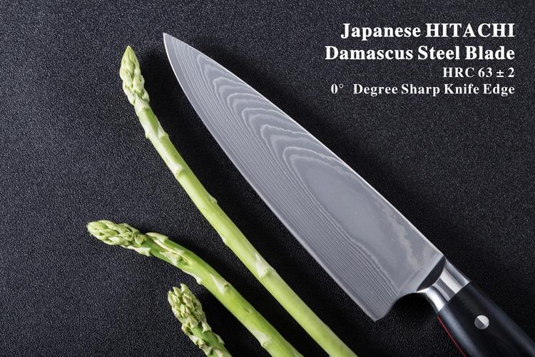 Japanese Damascus Steel Chefs Knife
