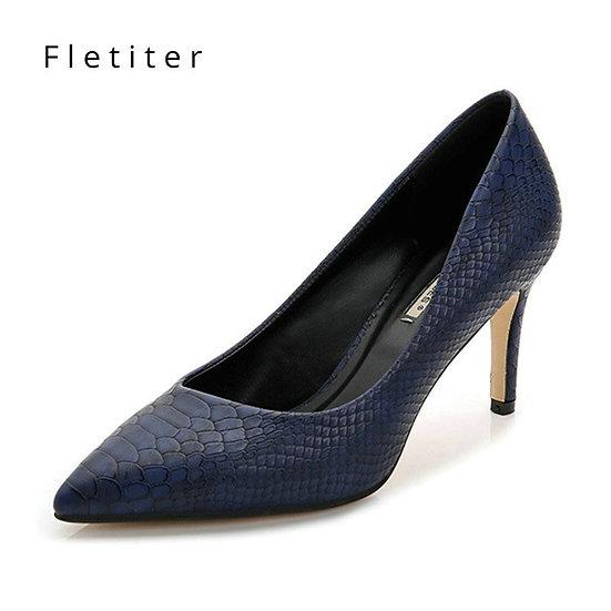 Women Shoes High Heels Leather Dress Pumps Shoe
