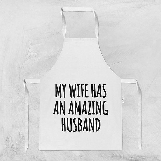 Husband Wife Apron For Women Gift For Her Hostess
