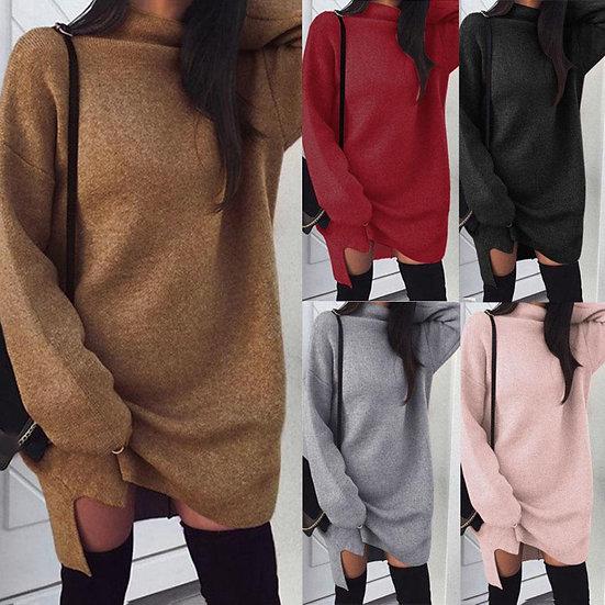 Loose Turtleneck Long Sleeve Warm Knitted Sweater