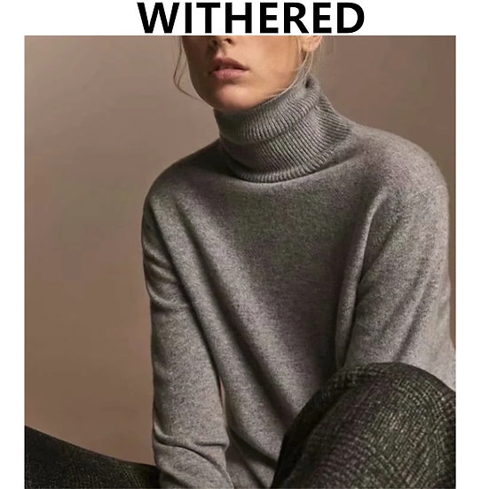 England Style Fashion  Turtleneck Sweaters  Causal Sweaters Women Pullovers