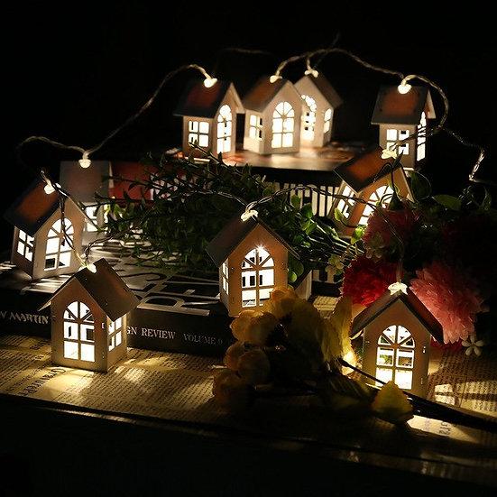 1.65M 10LEDs House Shaped Led String Light