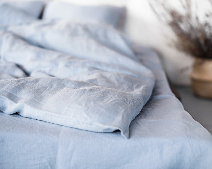 Softened linen duvet cover