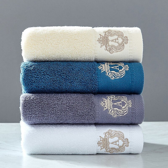 High-Grade 100% Cotton Towel Set for 1 person
