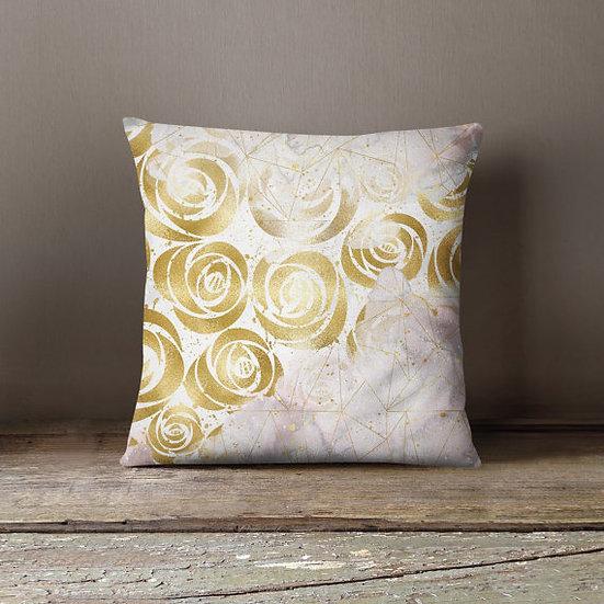 Golden Roses Pillowcase Decorative Throw Pillow
