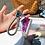 Thumbnail: Diamond Studded Glitter Mini Canvas Shoes Keychain Bag Pendants