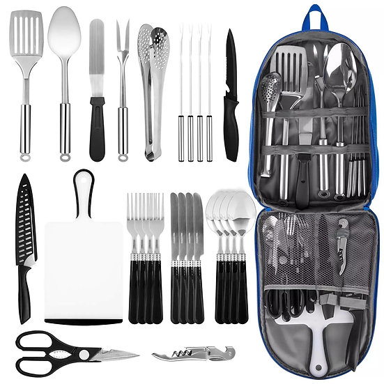 27-piece camping picnic cooking kit