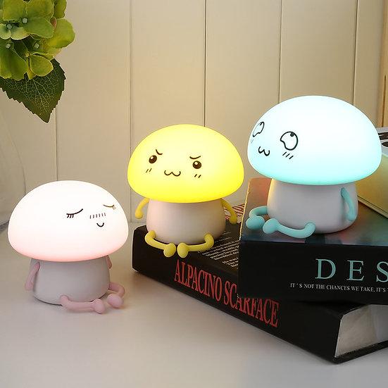 Mushroom Light Kids Night Light Silicone LED