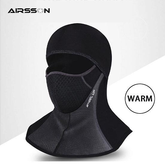 Neck Full Face Mask Outdoor Warm Fleece Mask Hood Windproof