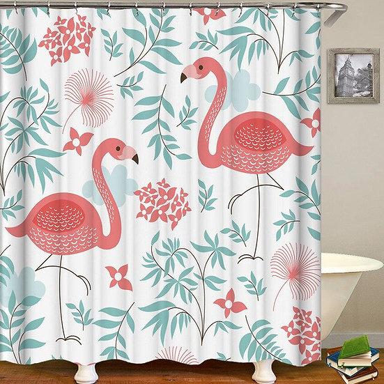 Animal Pattern Shower Curtain Bathroom Waterproof