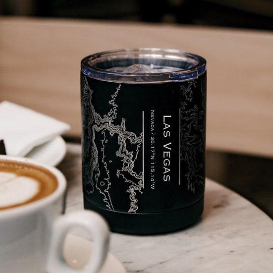 Las Vegas - Nevada Map Insulated Cup in Matte Black
