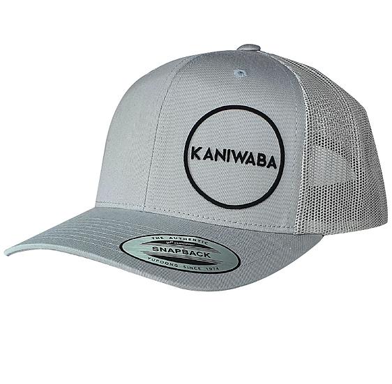 Silver Premium Trucker Hat - Black Circle