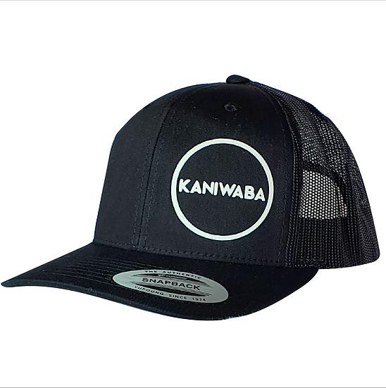Black Premium Trucker Hat - White Circle