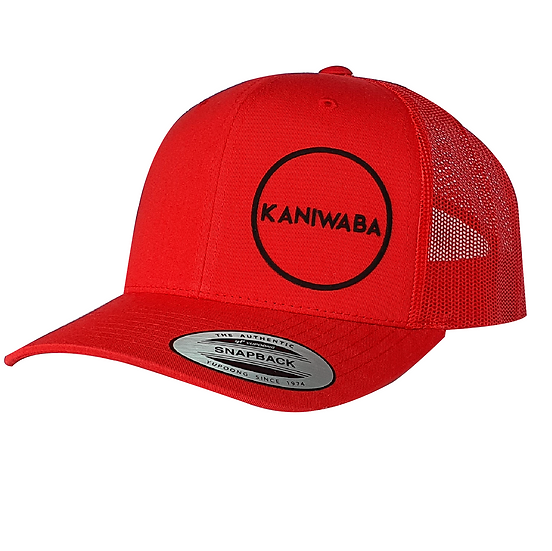 Red Premium Trucker Hat - Black Circle
