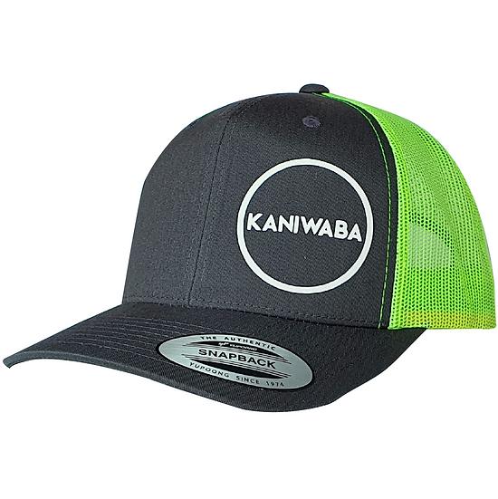 Gray and Green Premium Trucker Hat - White Circle