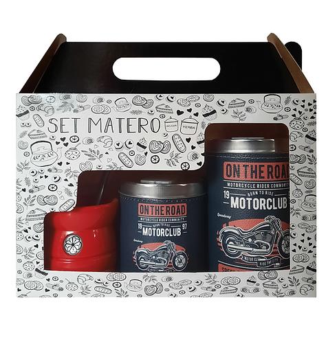 SET MATERO IMPRESO EN CAJITA // LATAS + MATE // D93