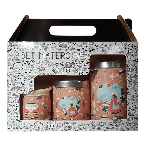 SET MATERO IMPRESO EN CAJITA // LATAS + MATE // D106