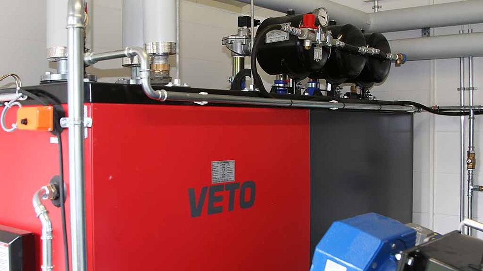 Veto 199KW chip boiler on log drying