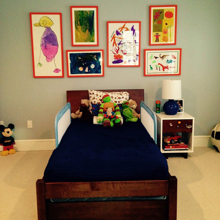 Kids room wall collage