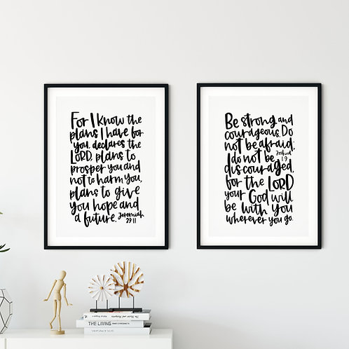 Be Strong Minimalist Print Set
