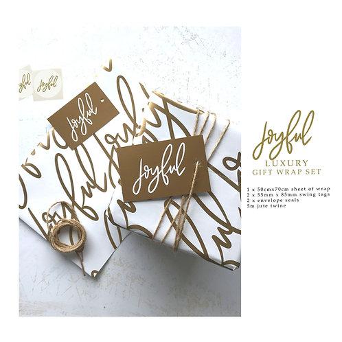 Luxury Gift Wrap Set - Joyful