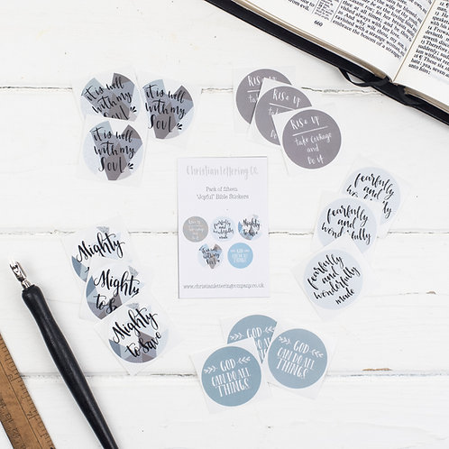 Bible Verse 'Joyful' Stickers