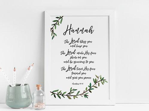 Personalised Print - Numbers 6:24-26