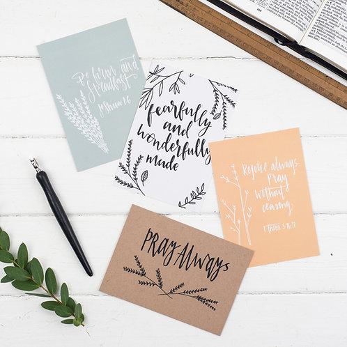 Encouraging Scripture Postcards - Set of 8