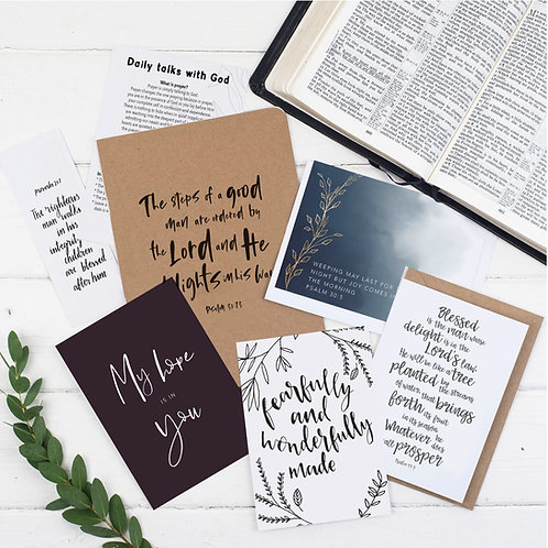 The Steps Of A Good Man Prayer Journal Gift Set For Him - Psalm 37:23
