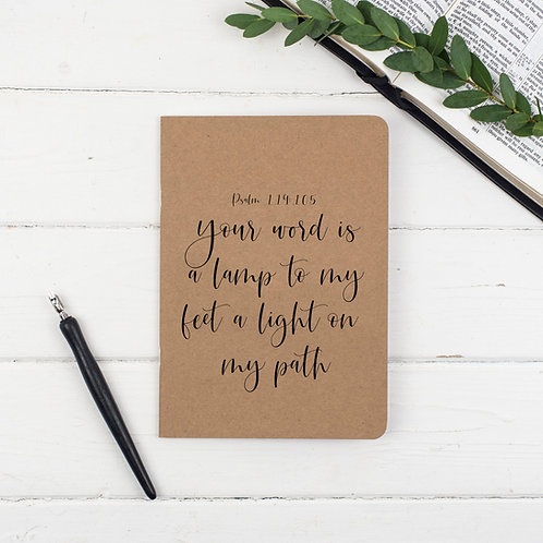 Your Word Is A Lamp Prayer Journal - Psalm 119:105
