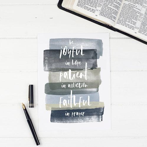 Be Joyful In Hope Print - Romans 12:12