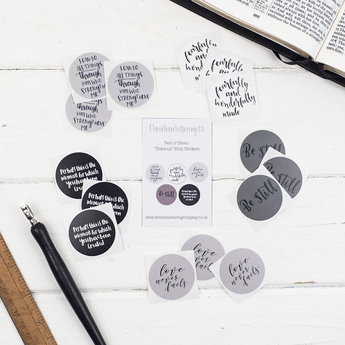 Bible Verse 'Gracious' Stickers