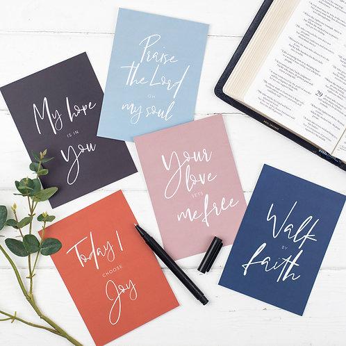 Faith Scripture Postcards - Set of 5