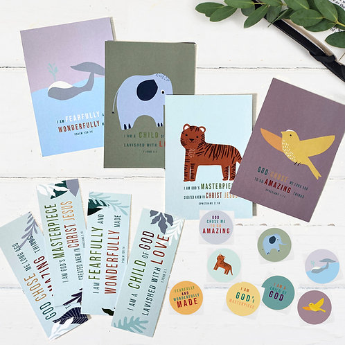 Fearfully And Wonderfully Made Stationery Set