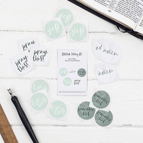 Bible Journaling 'True Vine' Stickers