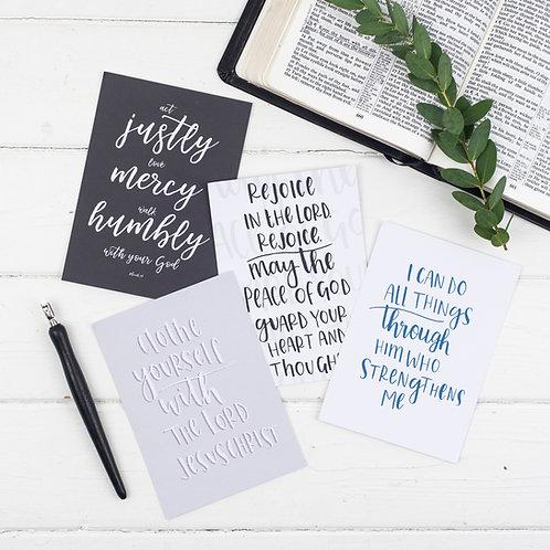Contemporary Scripture Postcards - Set of 8
