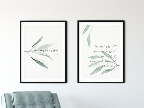Hope Botanical Print Set