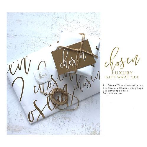 Luxury Gift Wrap Set - Chosen