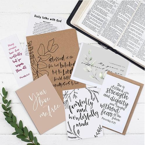 Blessed Is She Prayer Journal Gift Set For Her - Luke 1:45