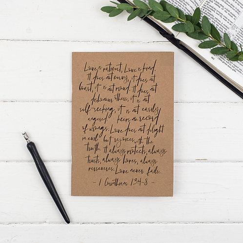 Love Is Patient Prayer Journal - 1 Corinthians 13:4-8