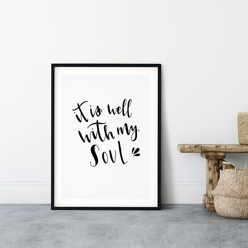 It Is Well with My Soul Minimalist Print -